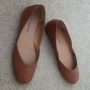 Lucky Brand 'Ameena' Leather Ballerina Flat Shoes
